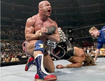 Kurt Angle vs Shawn Michaels